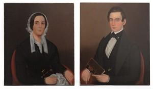 Pair of Ammi Phillips Portraits