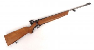 """Mossberg Microclick rifle. As found. 40"""" overall L. PLEASE NOTE: We will have a FFL Dealer"""