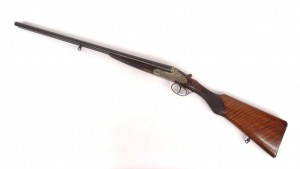 "Helico St. Etienne double barrel shotgun. Barrel 27"" L., 43"" overall. PLEASE NOTE: We will have"