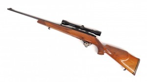 "Weathersby Mark XXII rifle. 42"" overall L. PLEASE NOTE: We will have a FFL Dealer on site,"
