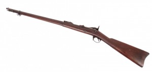 "Springfield Model 1884 Trapdoor rifle. 51"" L. PLEASE NOTE: We will have a FFL Dealer on site,"